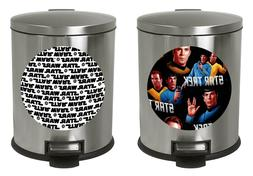 1.3 Gallon Oval Step Trash Can Movie Room Sci Fi Galaxy Oute