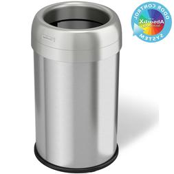 iTouchless 13 &16 Gallon Stainless Steel Open Dual-Deodorize