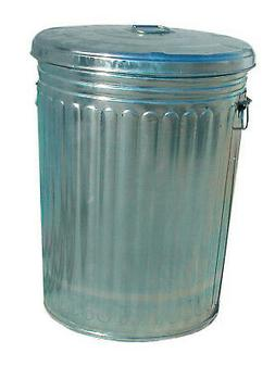 20 GALLON GALVANIZED TRASH CAN WITH LID TRASHCAN20GAL  - 1 E
