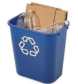 Plastic Recycling Container 7 Gallon Rectangular Waste Baske