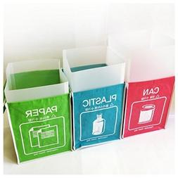 Recycle Bin Separate Recycle Bag Waste Baskets Compartment C