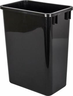 Hardware Resources CAN-35 Plastic Waste Container, Black