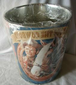 Roy Rogers Dale Evans King of  the Cowboys Trash Garbage Can