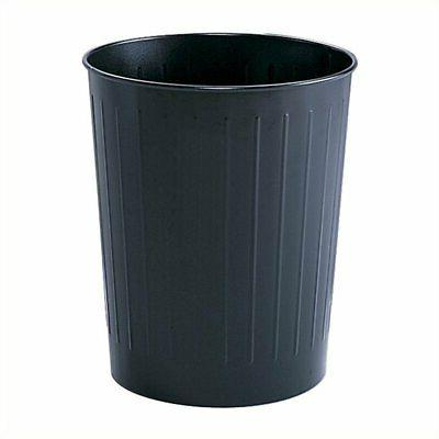 6 gallon round steel trash can in