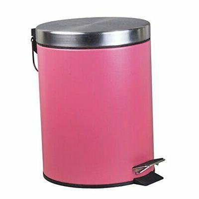 stainless steel round step trash can waste
