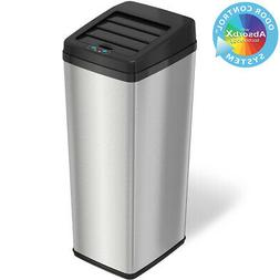New 14 Gallon Steel Automatic Sensor Touchless Trash Can Kit