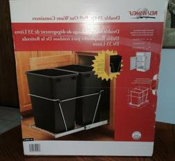 Rev-A-Shelf Double 35 qt Pull-out Waste containers RV-18PBC-